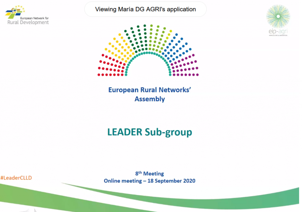 "Local Action Group ""Jūras Zeme"" participates in European Rural Networks' Assembly Leader Sub-group"