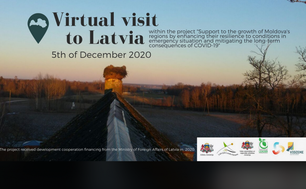 Jūras Zeme (Sea Land)  participated in a Virtual Visit to Latvia for Moldovan Local Action Groups