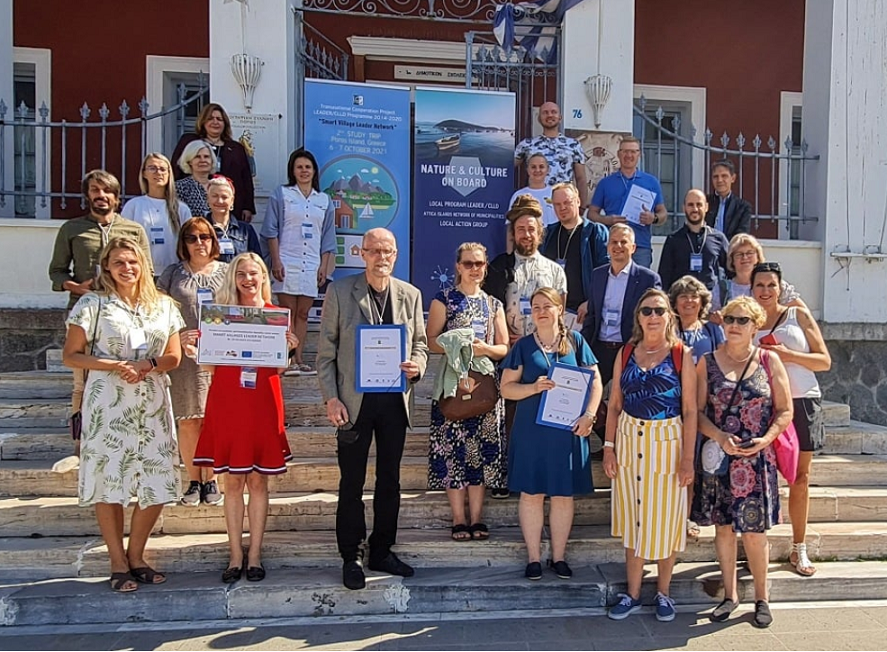"""Jūras Zeme (Sea Land) participated in the 2nd Study Trip of the Transnational Cooperation Program """"Smart Villages Leader Network"""" on 6-7 October in Poros"""