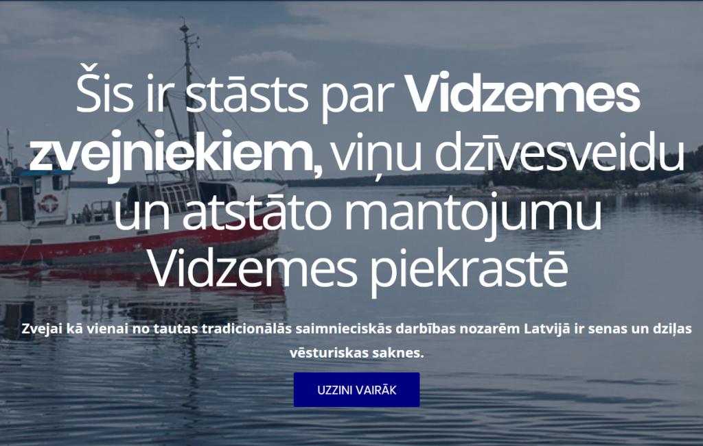 Izveidota jauna mājas lapa par Vidzemes piekrastes Zvejniekiem